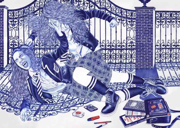 Рисунки шариковой ручкой. Helena Hauss