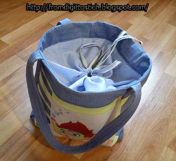 сумка с завязками