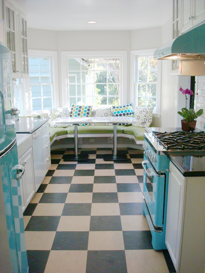 House of turquoise mercury mosaics - Retro flooring kitchen ...