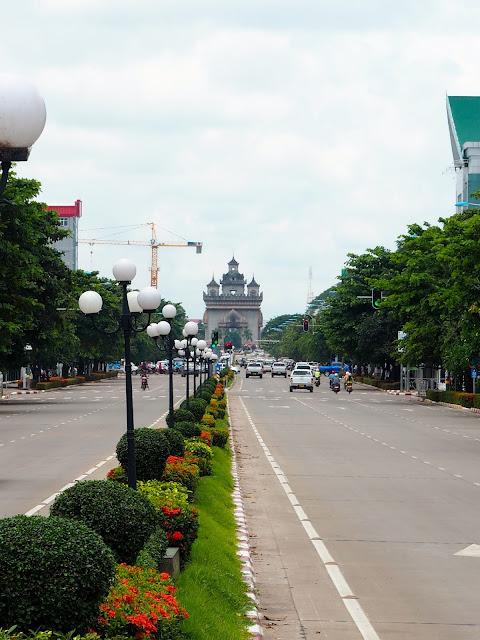 Patuxai Victory Gate Monument in Vientiane, Laos