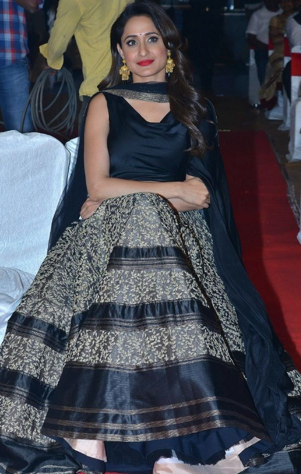 Pragya Jaiswal In Black Dress At Movie Audio Launch
