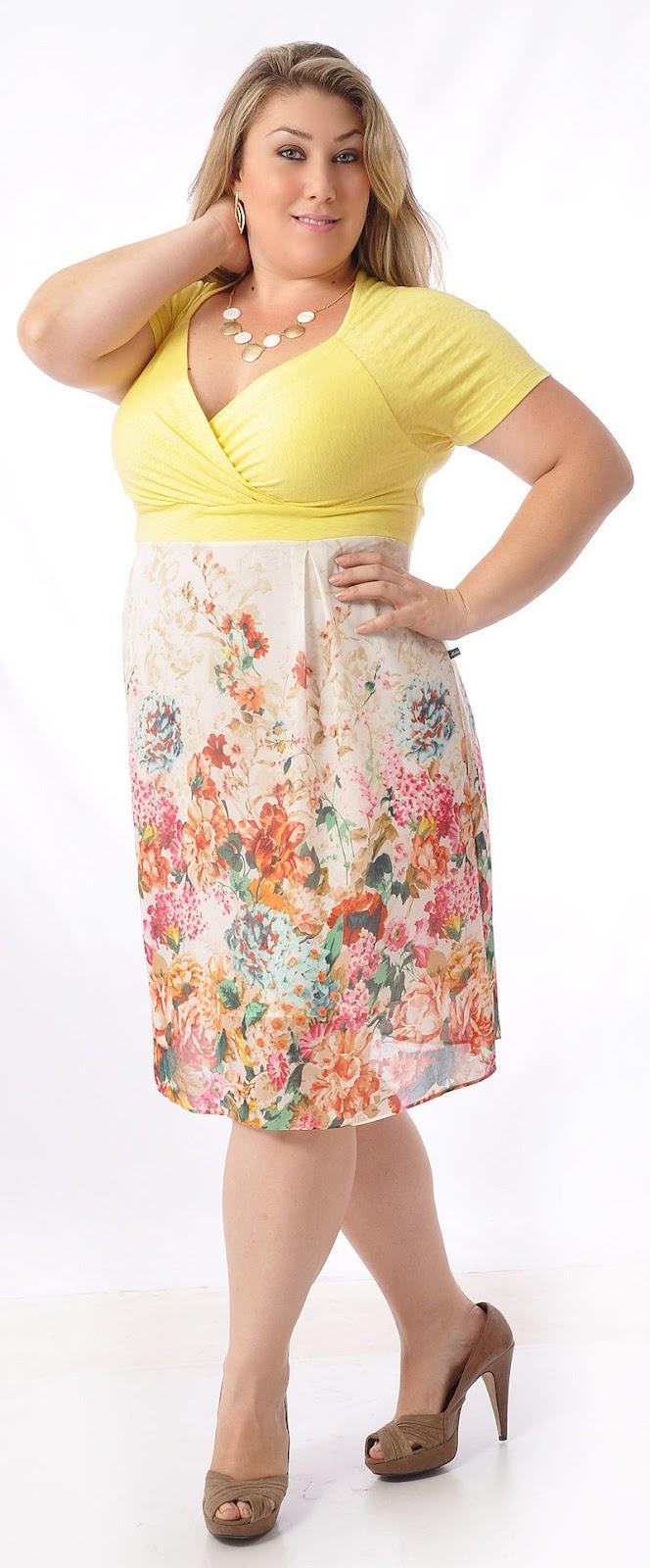 860d0c86b4d0 Vestido Plus Size Estampas nas tendências de moda fashion para mulheres  tamanhos grandes, temos vários modelos de vestido, longo, curto, floral, ...