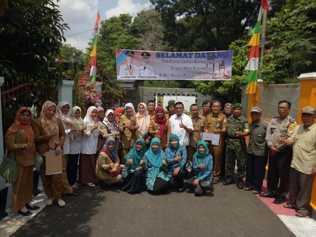 Kelirahan Srijaya Wakili Kecamatan Alang Alang Ikuti Lomba Kampung Sehat Tingkat Kota Palembang