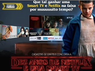 Cadastrar Promoção Reduza Netflix 2018 Dez Anos Grátis Tv Smart 40 Polegadas