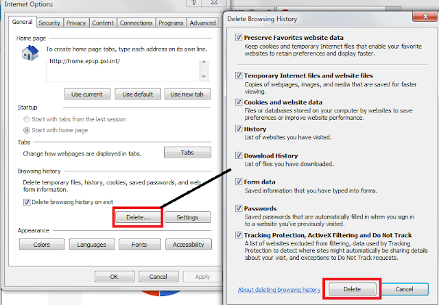 How to Clear cache history Internet explorer