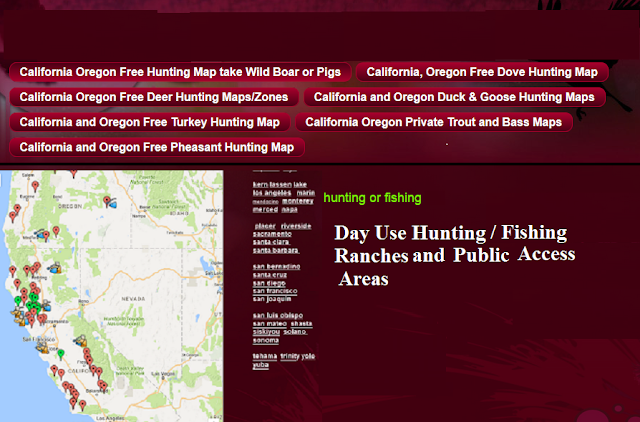 hunting and fishing clubs, hunting and fishing private ranches or lands