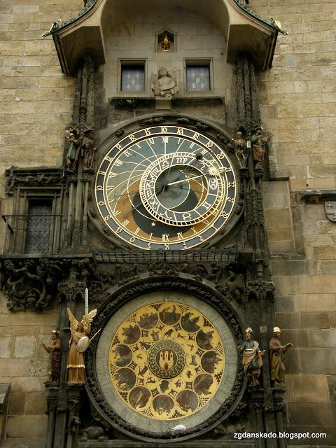 Praga - Zegary na Ratuszu Staromiejskim
