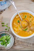 Zupa dyniowa z pulpetami