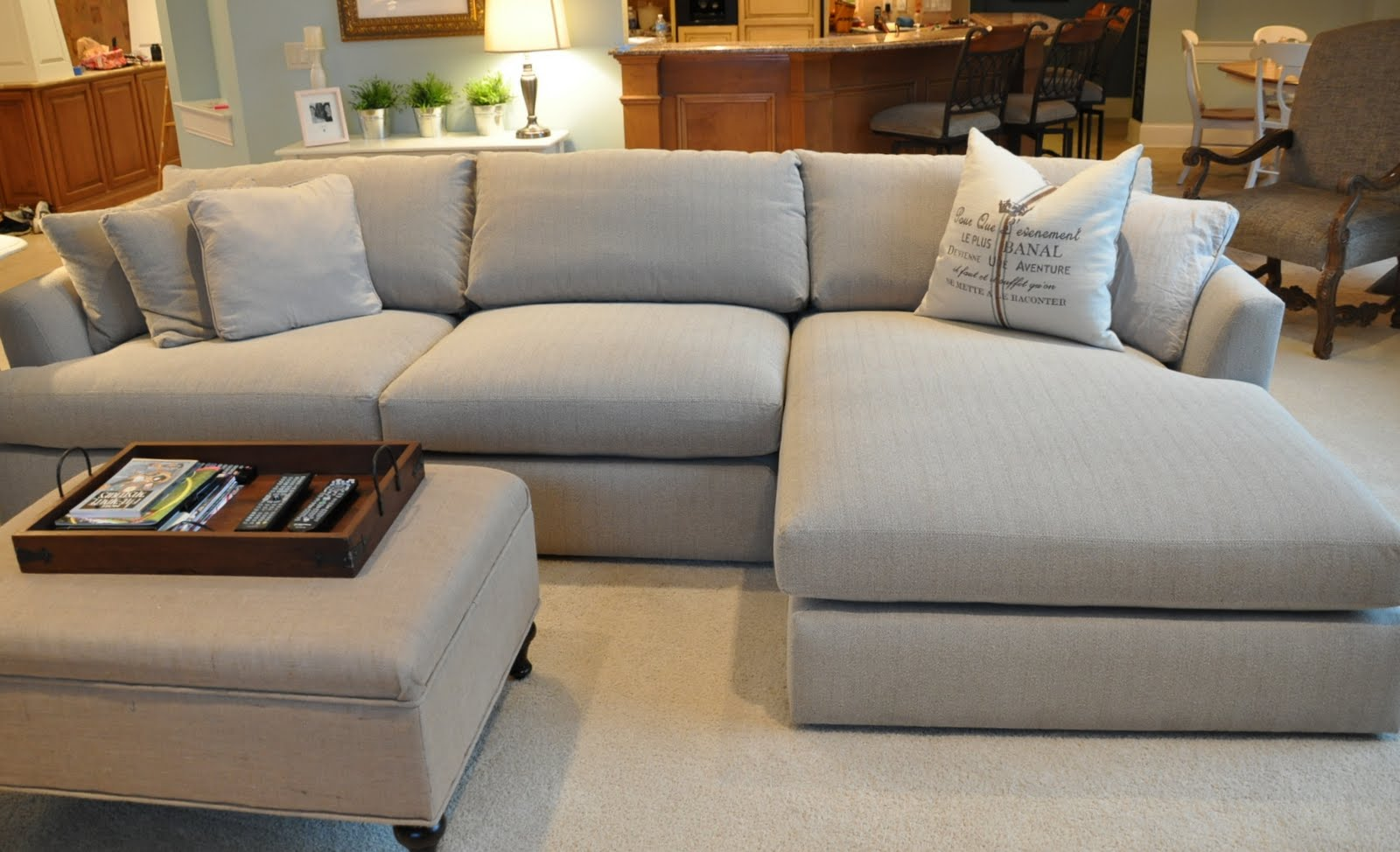 The sectional has landed evolution of style for Big comfy chaise lounge