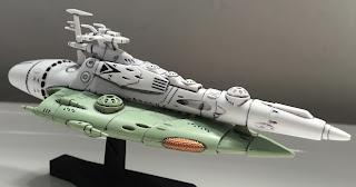 Atlantis Kukulkan Comet Empire Destroyer Model Kit Star Blazers Yamato 2199 Bandai Kit