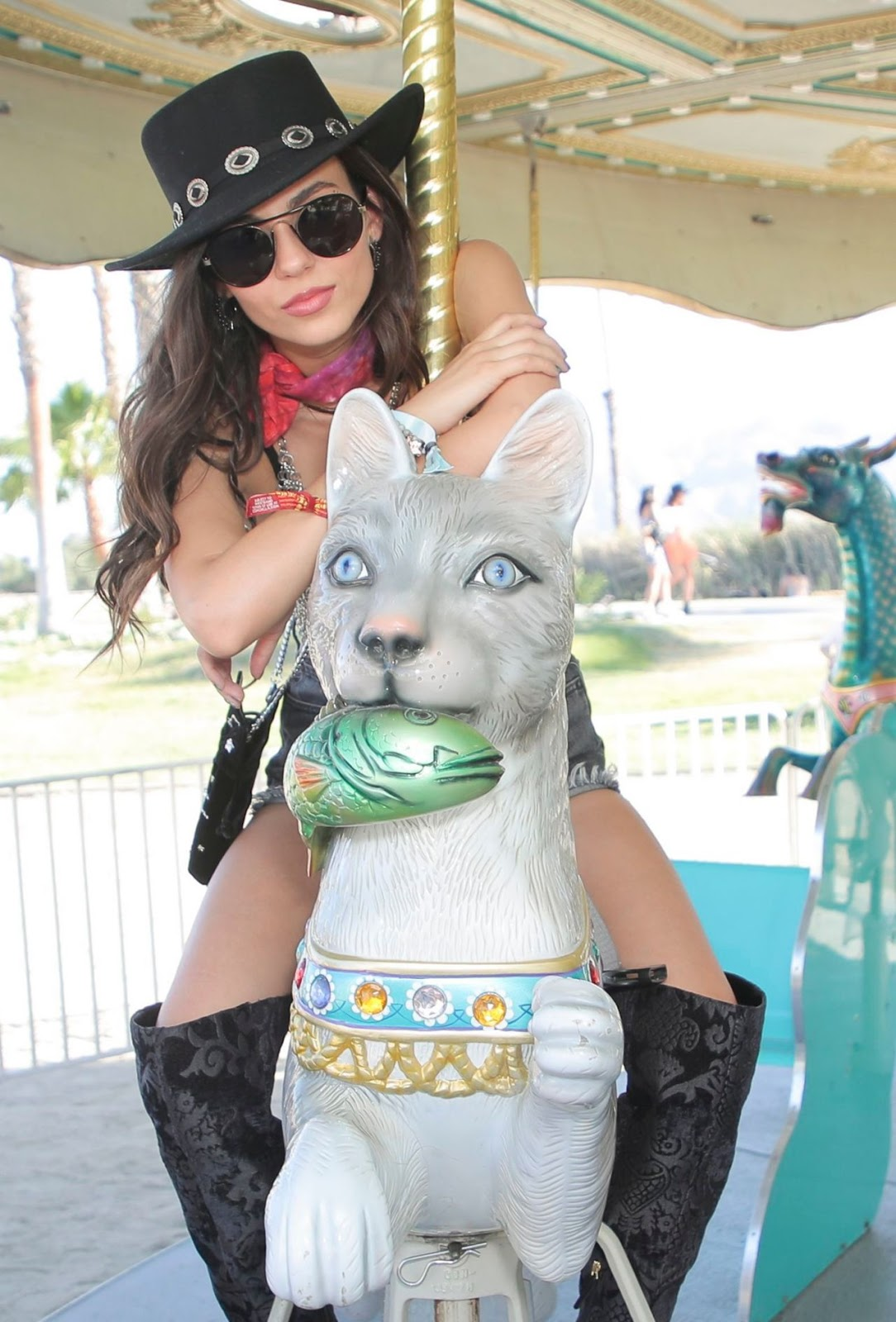 Victoria Justice – Revolve Party at Coachella in Indio