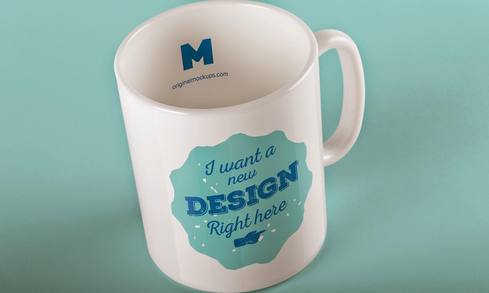 Elegant Mug Mockup PSD