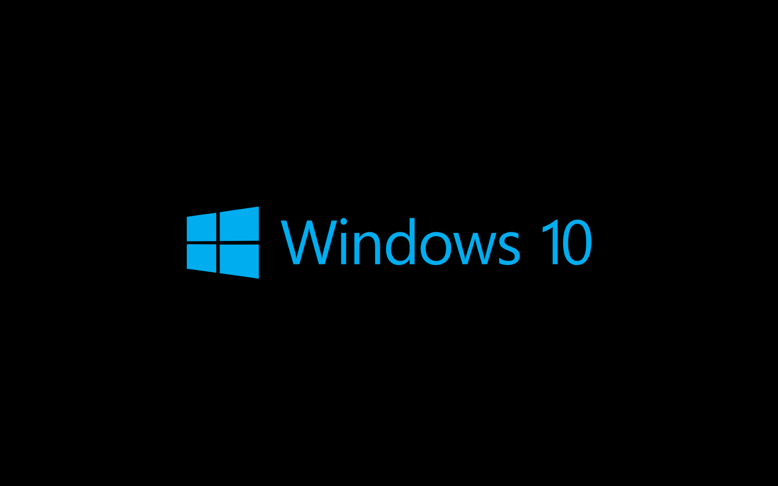 Schwarzen Windows 10 wallpaper