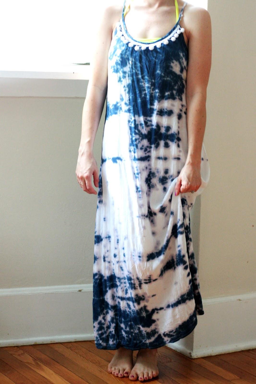 DIY: EMBELLISHED TIE-DYE MAXI DRESS TUTORIAL