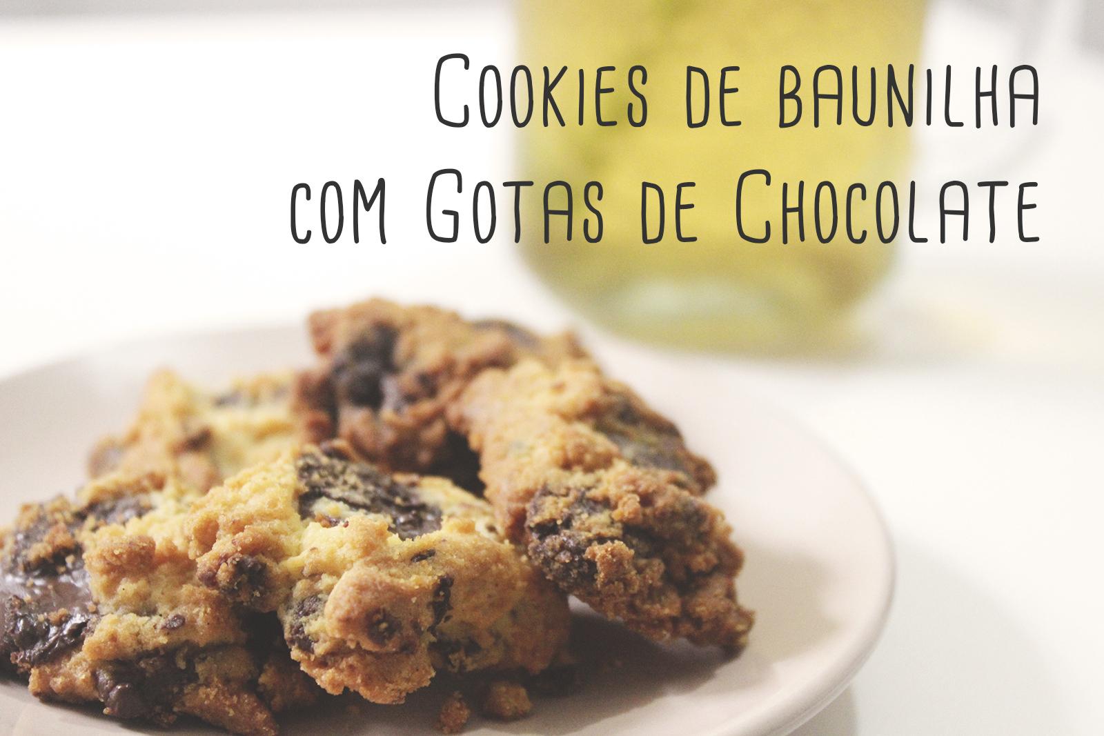Receita: Cookies com Gotas de Chocolate