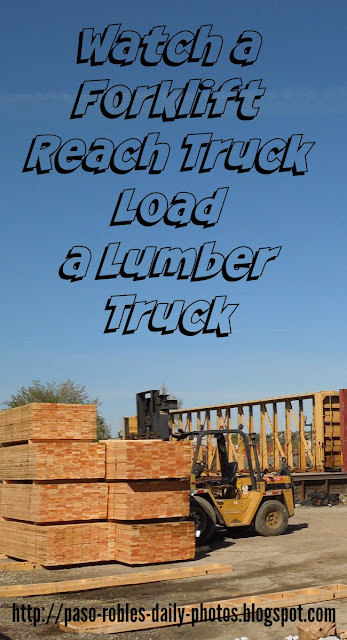 Watch a Forklift Reach Truck Load a Lumber Truck
