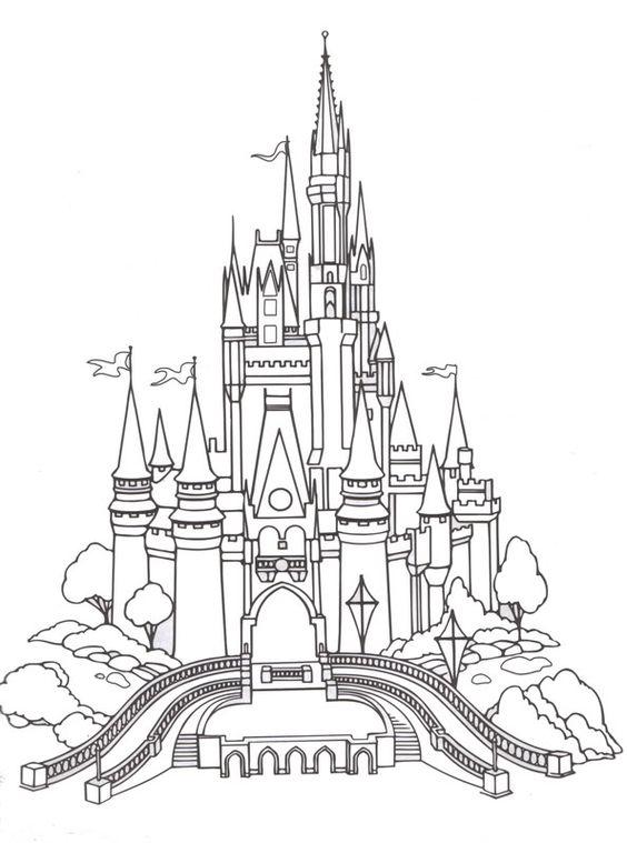 Tranh cho bé tô màu lâu đài 3