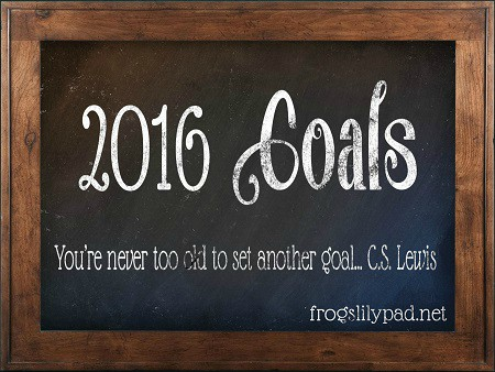 My 2016 Goals. No diet, no exercise found on this list, but good things that will make me happy. frogslilypad.net