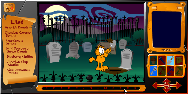 Online Game Lounge Garfield S Scary Scavenger Hunt Part 1