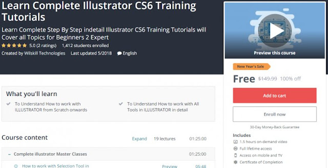 [100% Off] Learn Complete Illustrator CS6 Training Tutorials| Worth 149,99$