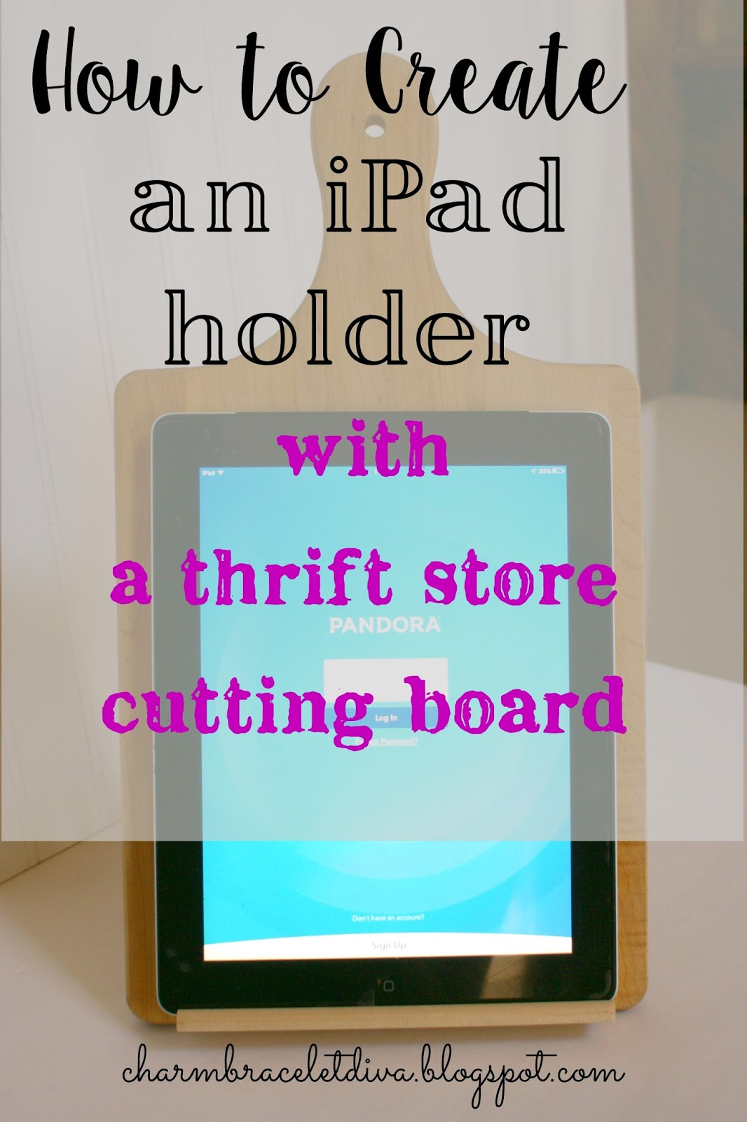 Our Hopeful Home: DIY iPad Stand From Thrift Store Cutting Board ...