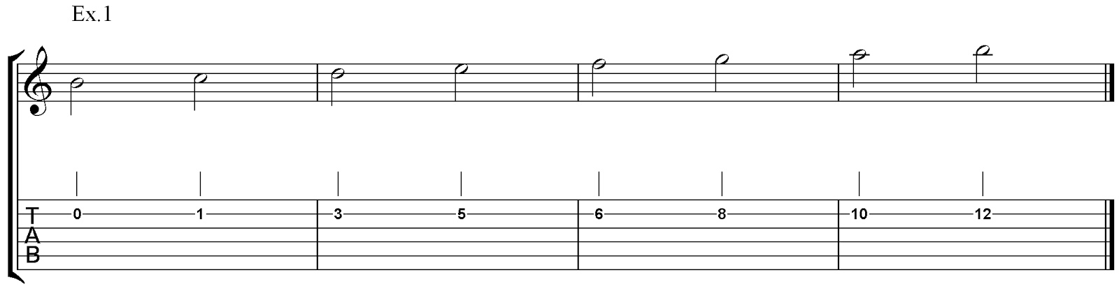 guitariosity harmonizing melody with chords part 3 using triads on adjacent strings 2 3 and 4. Black Bedroom Furniture Sets. Home Design Ideas