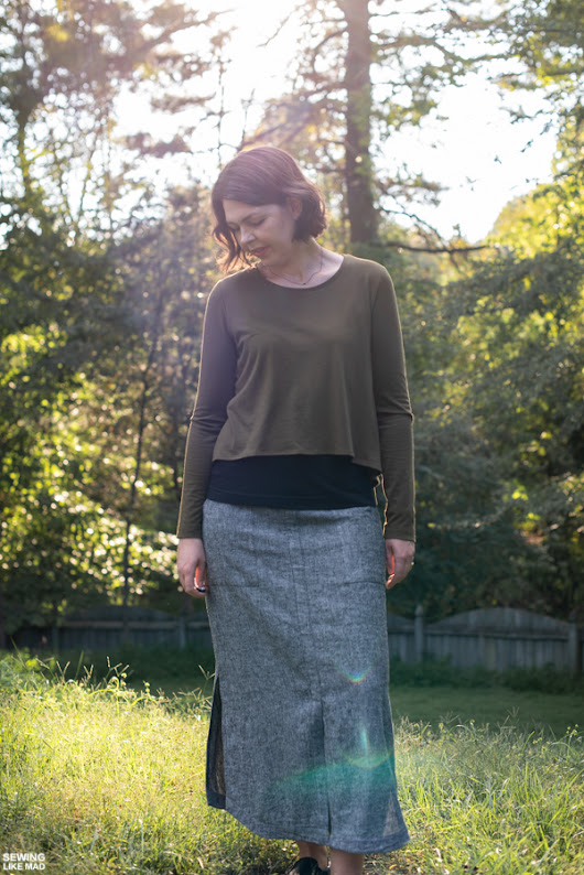 Kylie Knit Top and Indigo Maxi Skirt both by StyleARC
