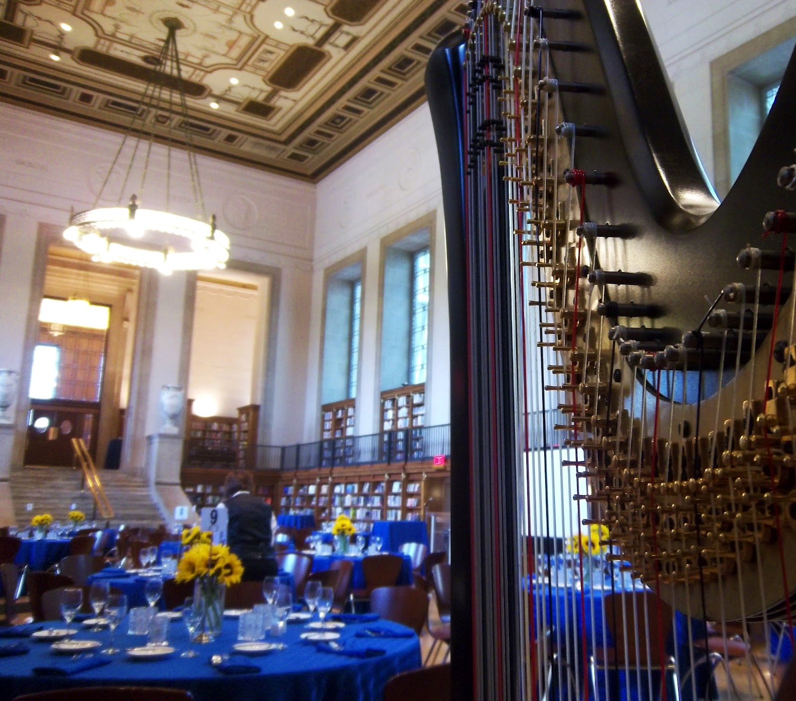 Indianapolis Harpist Rehearsal Dinner At The Central Library