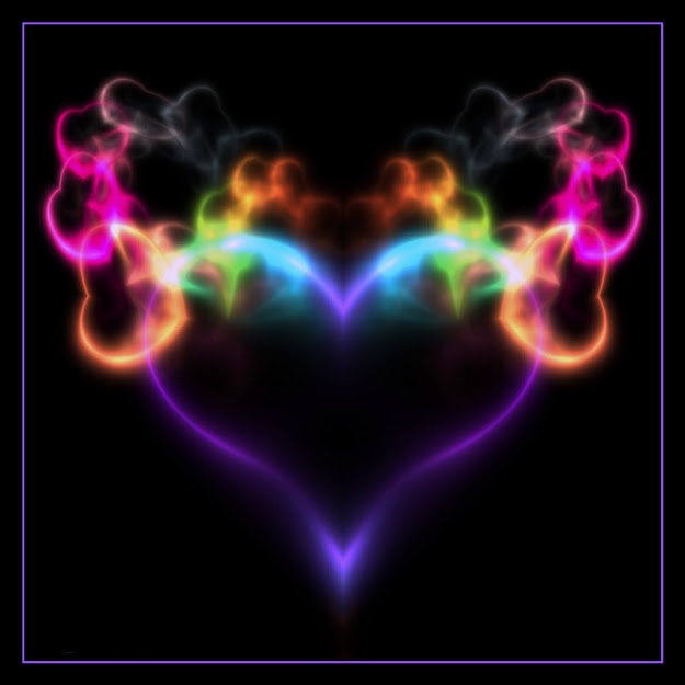 Colorful Hearts  Free Colorful Smoking Heart Phone Wallpaper By Uzueta