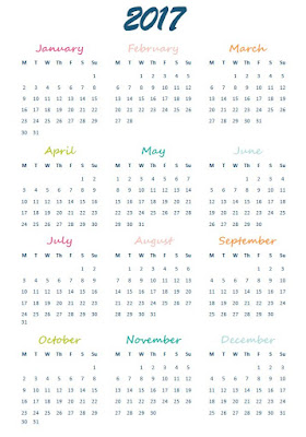 2017 Calendars & Planners free printables - 2017 At-A-Glance Calendar - Ioanna's Notebook