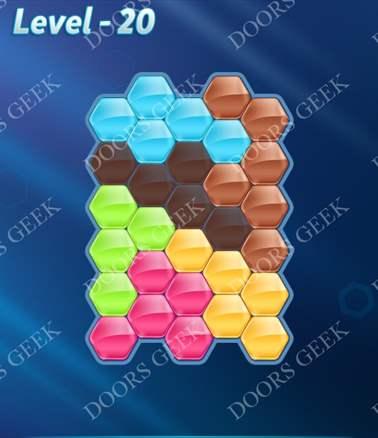 Block! Hexa Puzzle [6 Mania] Level 20 Solution, Cheats, Walkthrough for android, iphone, ipad, ipod