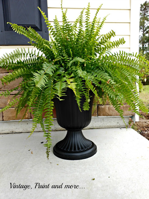 Vintage Paint and more... dollar store urns made elegant with black chalkboard paint