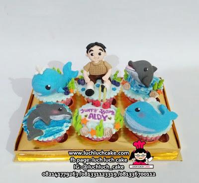 Cupcake Ikan Paus dan Lumba-Lumba