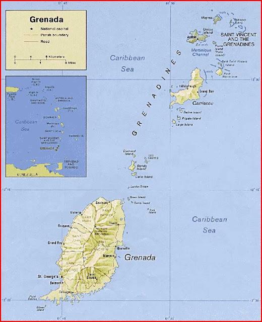 Gambar Peta politik Grenada
