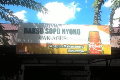 BAKSO SOPO NYONO CAK AGUS Harapan Raya