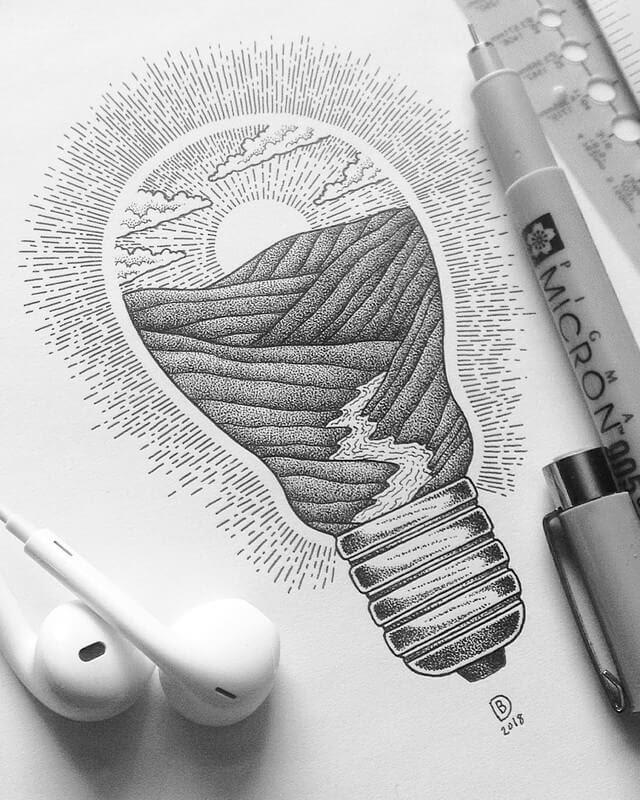 06-Bright-Days-Ahead-Dylan-Brady-Stippling-Drawings-in-Ink-www-designstack-co