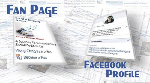 how to change facebook profile into fan pages