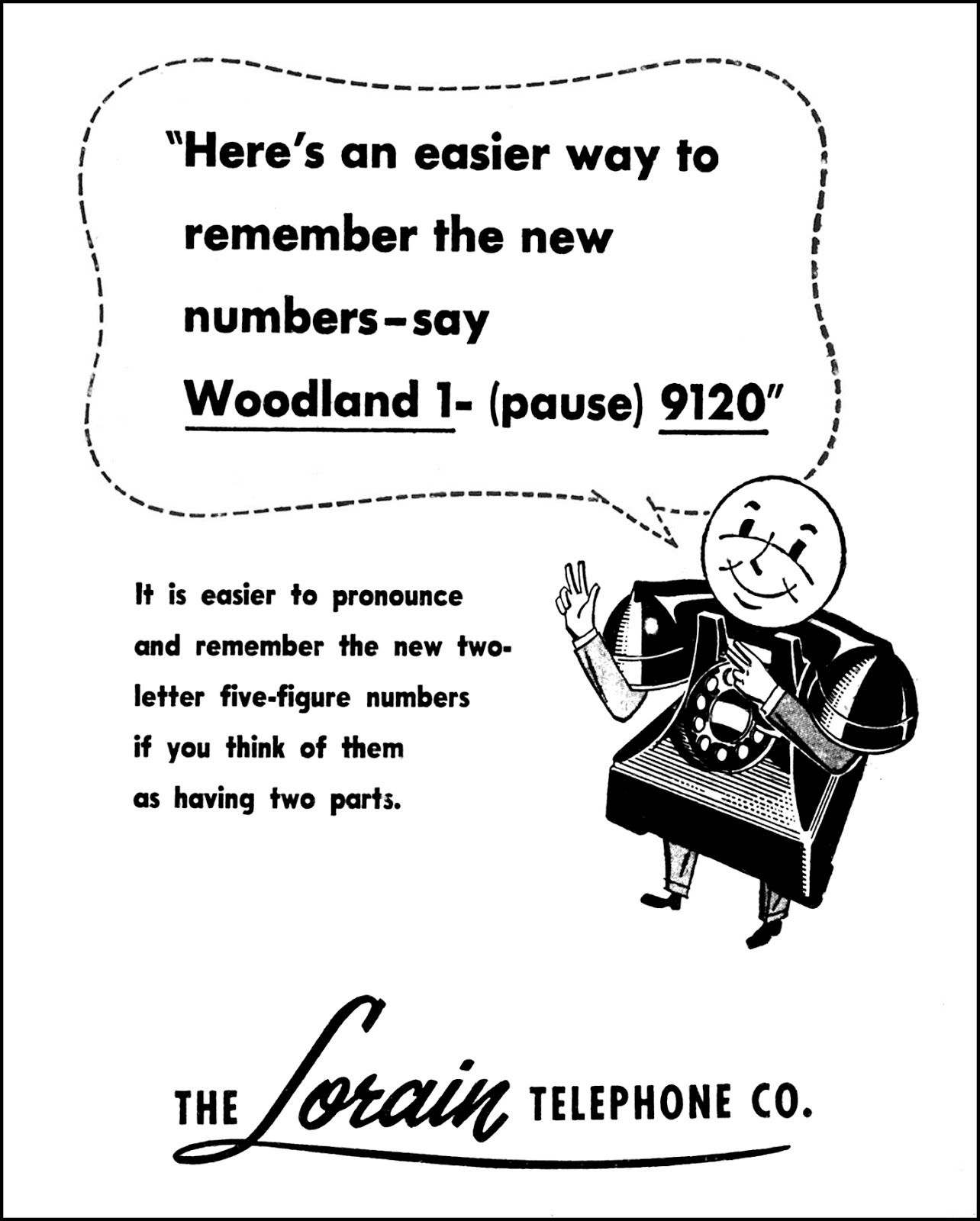 The Lorain Telephone Company - published in the Lorain Journal - Lorian, Ohio U.S.A. - November 13, 1956