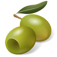 olive green fruit icons