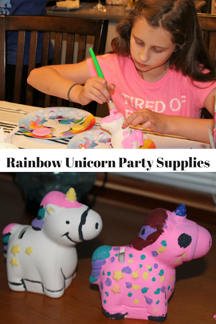 Rainbow Unicorn Party Supplies, birthday party, for her, for him, for kid, kids crafts, DIY, Oriental Trading, birthday ideas, birthday supplies
