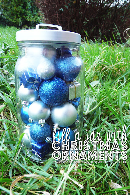 Fill a Jar with Christmas Ornaments