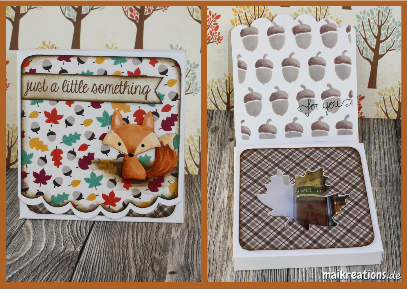maikreations herbstliche merci verpackung autumnal chocolate gift box. Black Bedroom Furniture Sets. Home Design Ideas