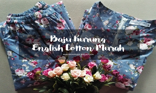 Baju Kurung English Cotton Murah