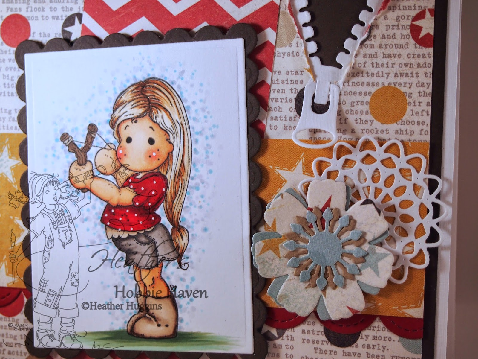 Heather's Hobbie Haven - Tilda with Slingshot Card Kit