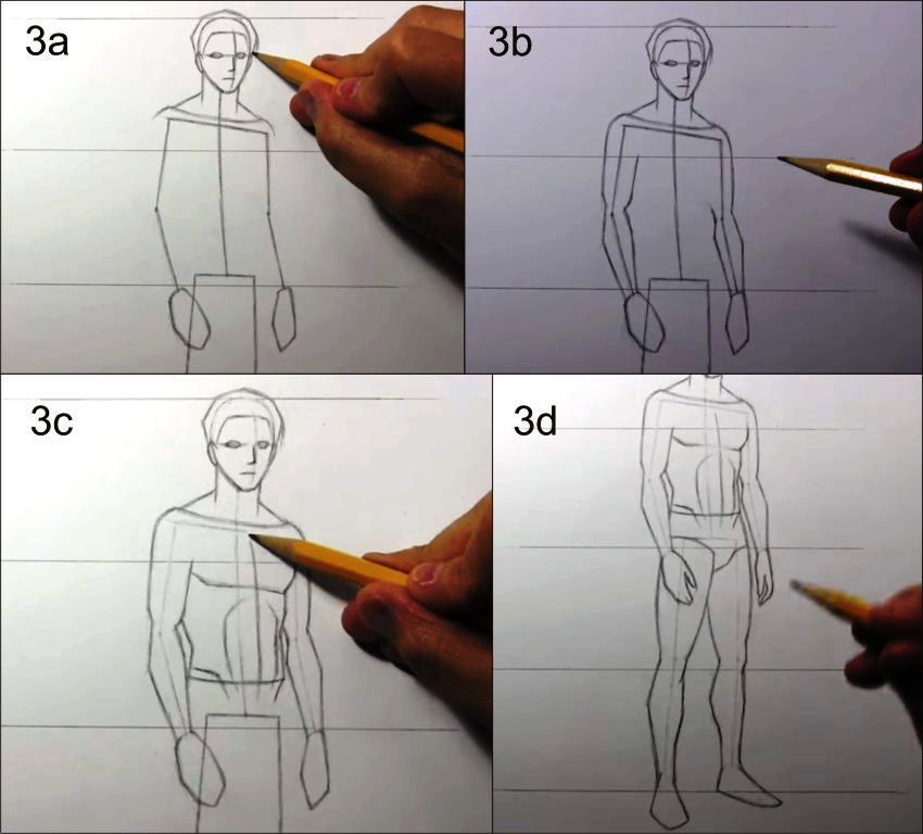 Cara Menggambar Manusia Secara Proporsional menggunakan Pensil