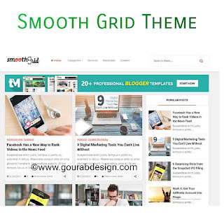 smooth grid seo friendly latest blogger template