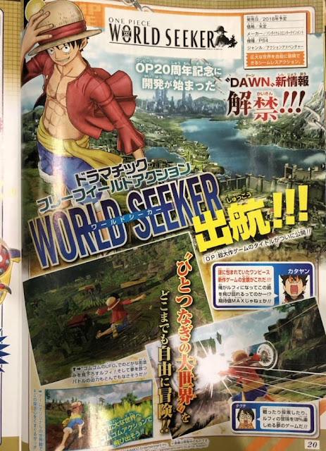 Actu Jeux Vidéo, Bandai Namco, Jeux Vidéo, Jump Festa 2018, One Piece : World Seeker, Weekly Shonen Jump,