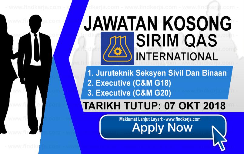 Jawatan Kerja Kosong SIRIM QAS International logo www.ohjob.info www.findkerja.com oktober 2018