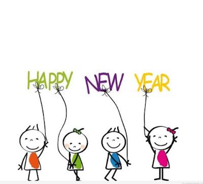 Gambar Selamat Tahun Baru Kartun Lucu Balon Warna Warni