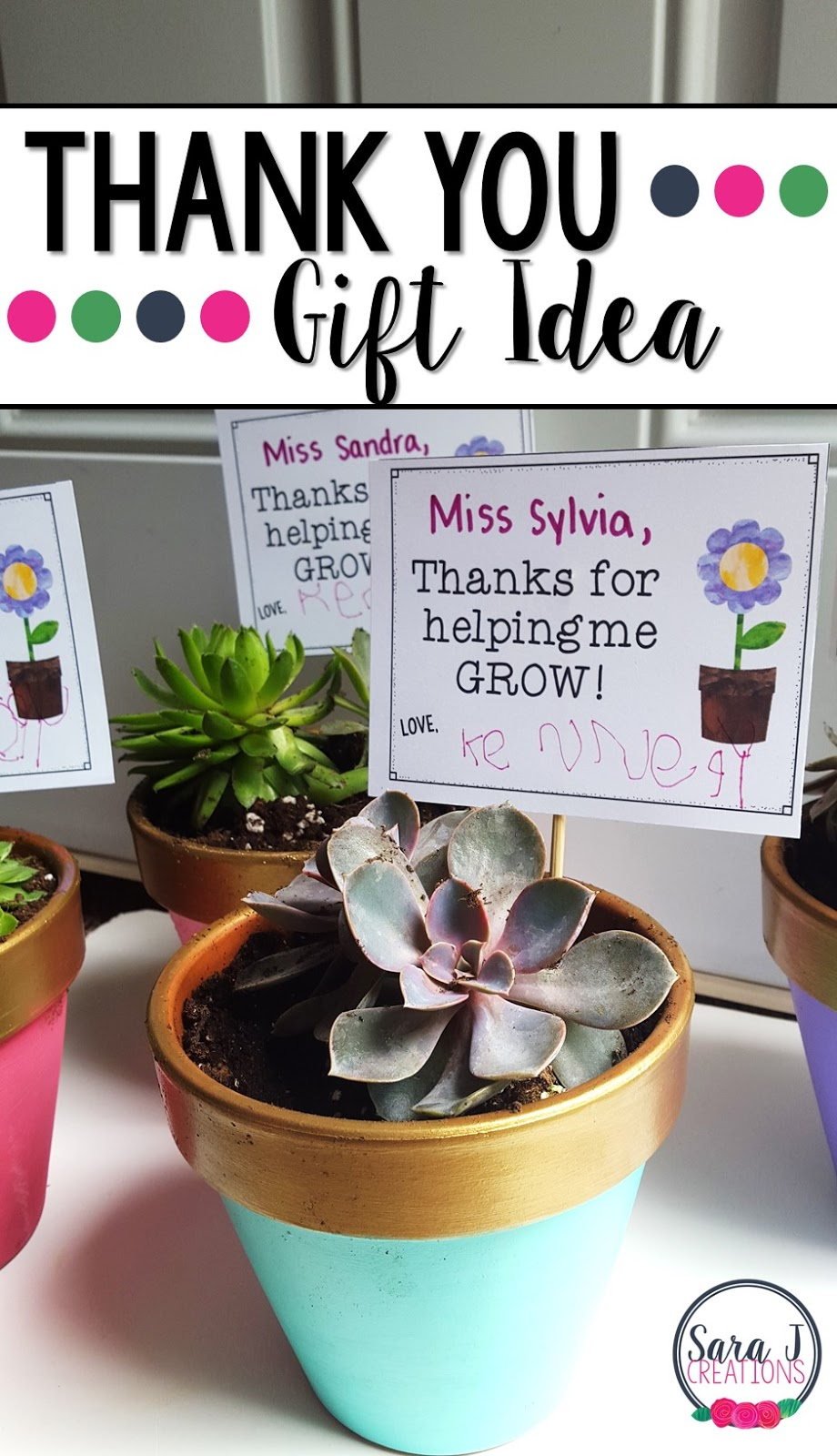 Easy budget friendly thank you presents!  Thanks for helping me grow with a version that says we as well.  Free gift tags to go with the plants/flowers of your choice.